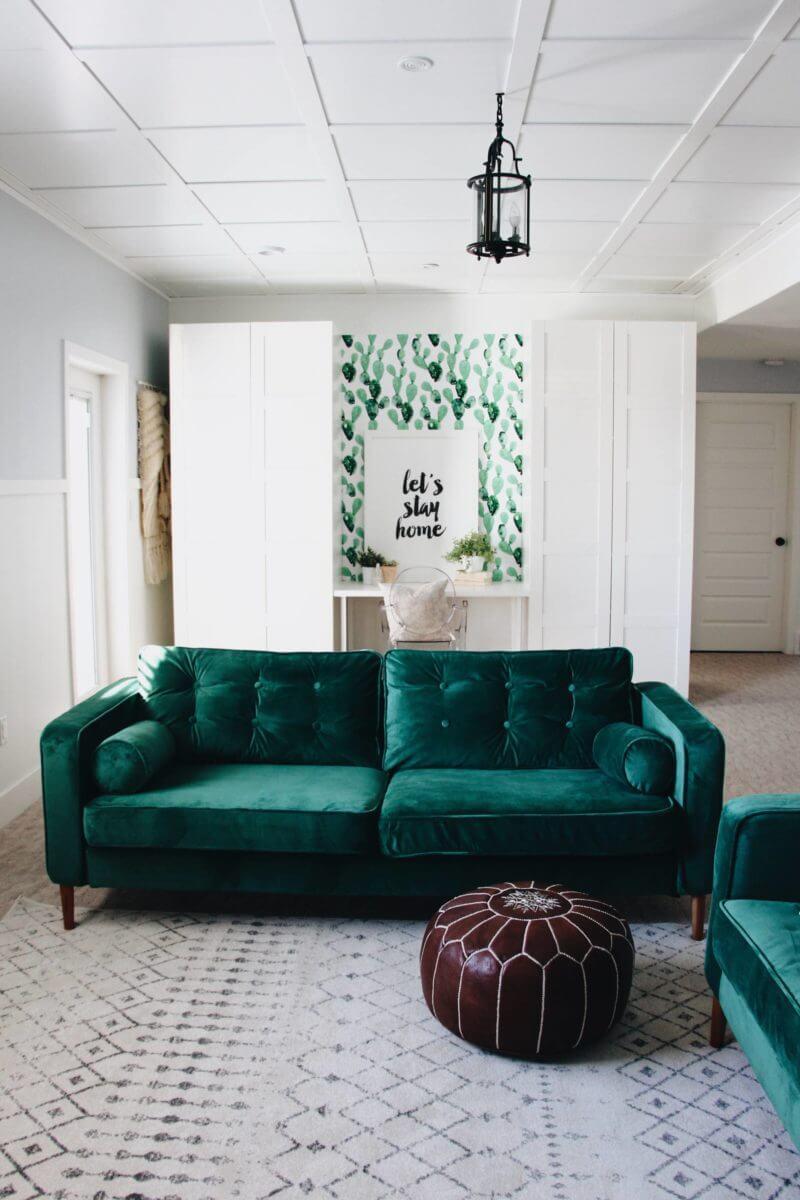 Donner vie aux rêves de velours vert haut de gamme