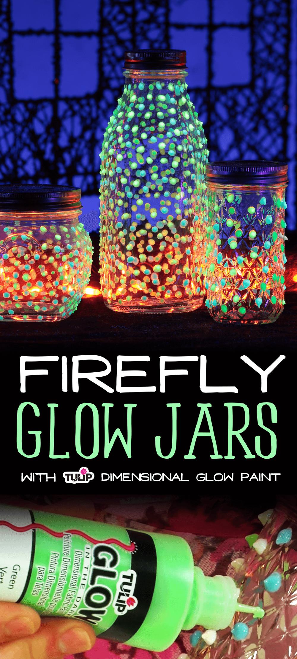 Illuminez la nuit avec les pots Firefly Glow