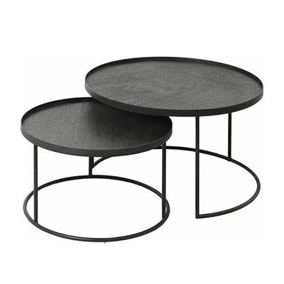 table basse ronde noire