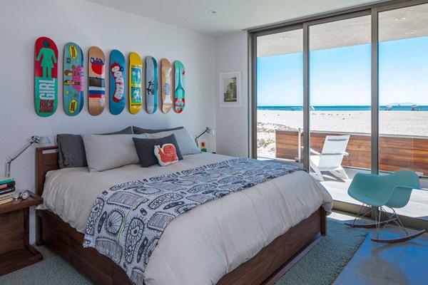chambre de maison de plage cool