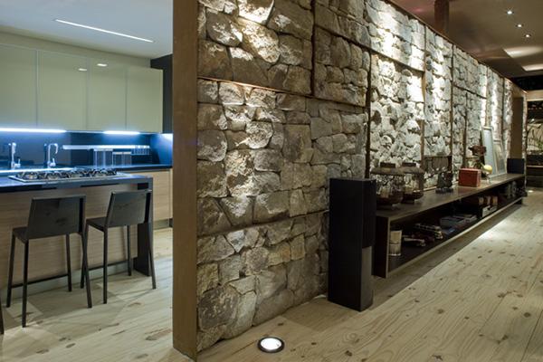 conception de mur de pierre