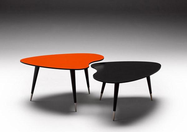 Tables de centre de courbe