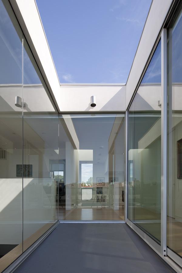 mur et plafond en verre