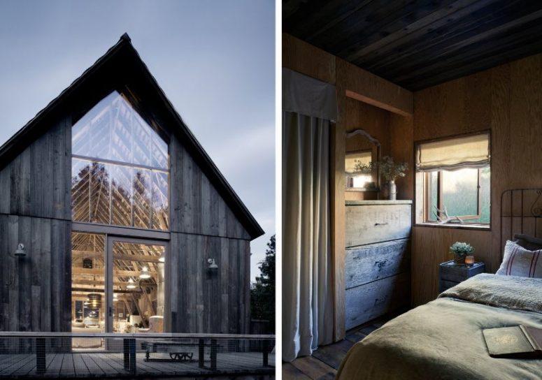 La maison a conservé son confort et une légère sensation vintage grâce à l'utilisation de matériaux et le style choisi pour la décoration intérieure