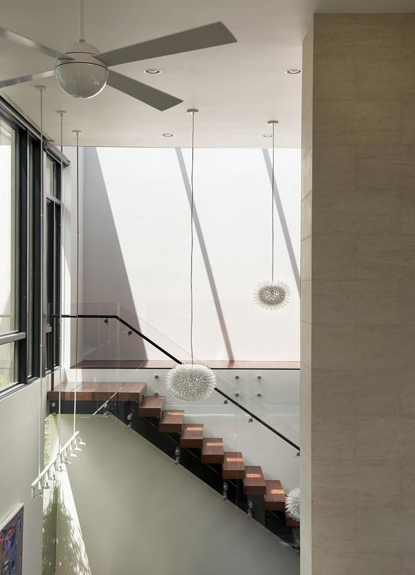 design d'intérieur d'élément en verre