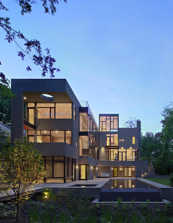 éclairage de maison moderne