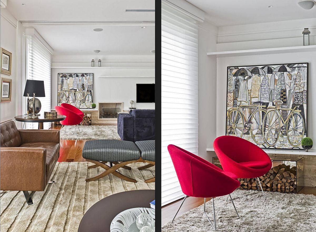 Intérieur-élégant-et-sophistiqué-de-l-appartement-en-bronze-avec-des-pops-de-rouge-vif-apporté-par-la-chaise-75904