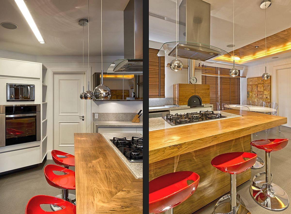Bar-petit-déjeuner-en-bois-fringant-pour-la-cuisine-moderne-avec-tabourets-de-bar-rouge-vif-54729