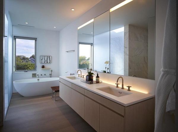 salle de bain confortable