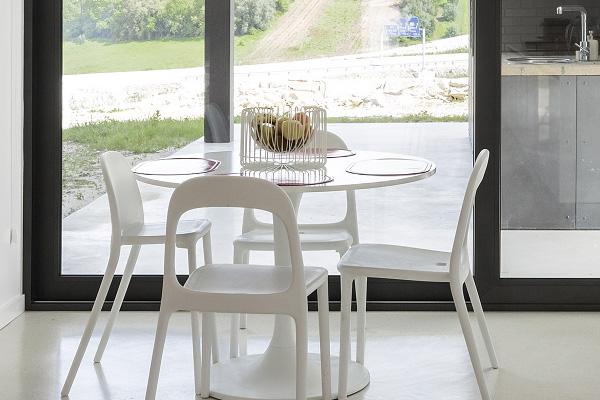 petit ensemble de salle à manger blanc