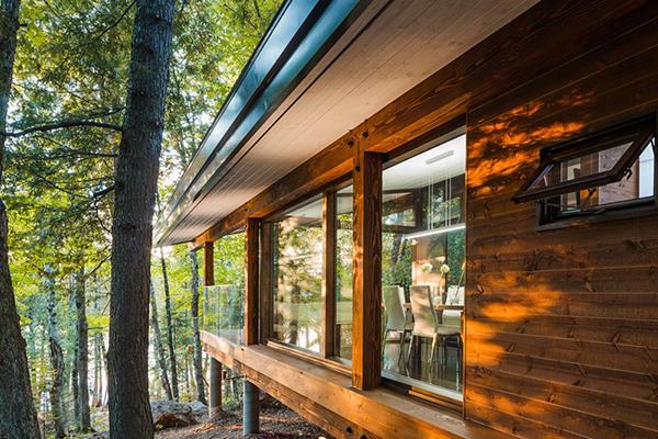 murs extérieurs en bois