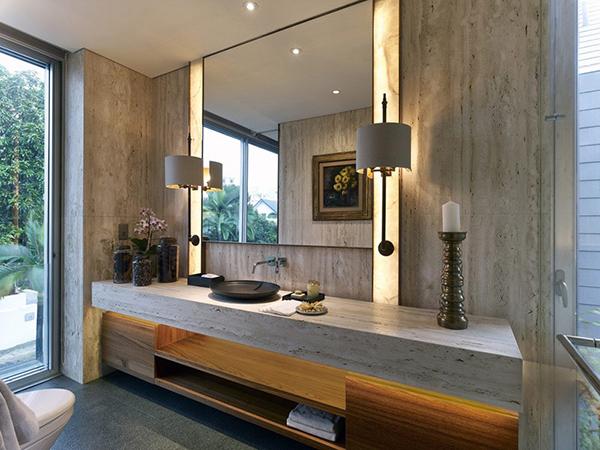 lavabo de salle de bain de luxe élégant