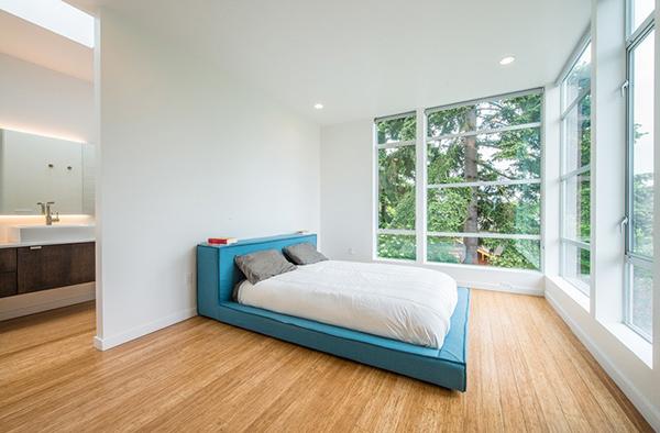 chambre à coucher minimale