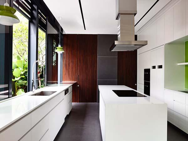 conception de cuisine blanche