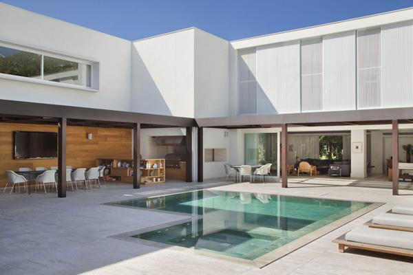 espace piscine élégant